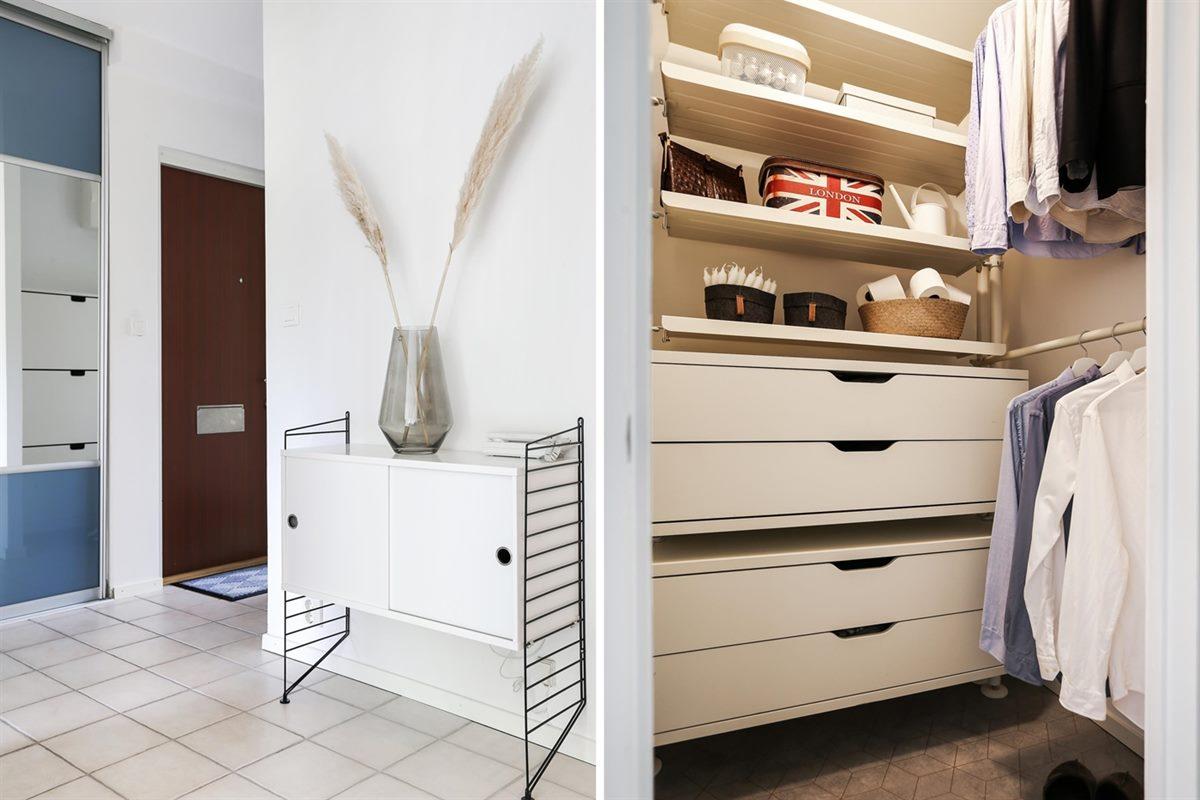 Möblerbar hall och bra förvaringsmöjligheter i garderob samt klädkammare.