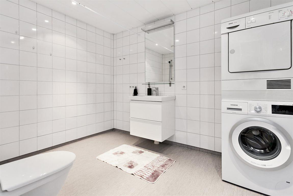 Stor och tilltagen dusch/WC/tvätt