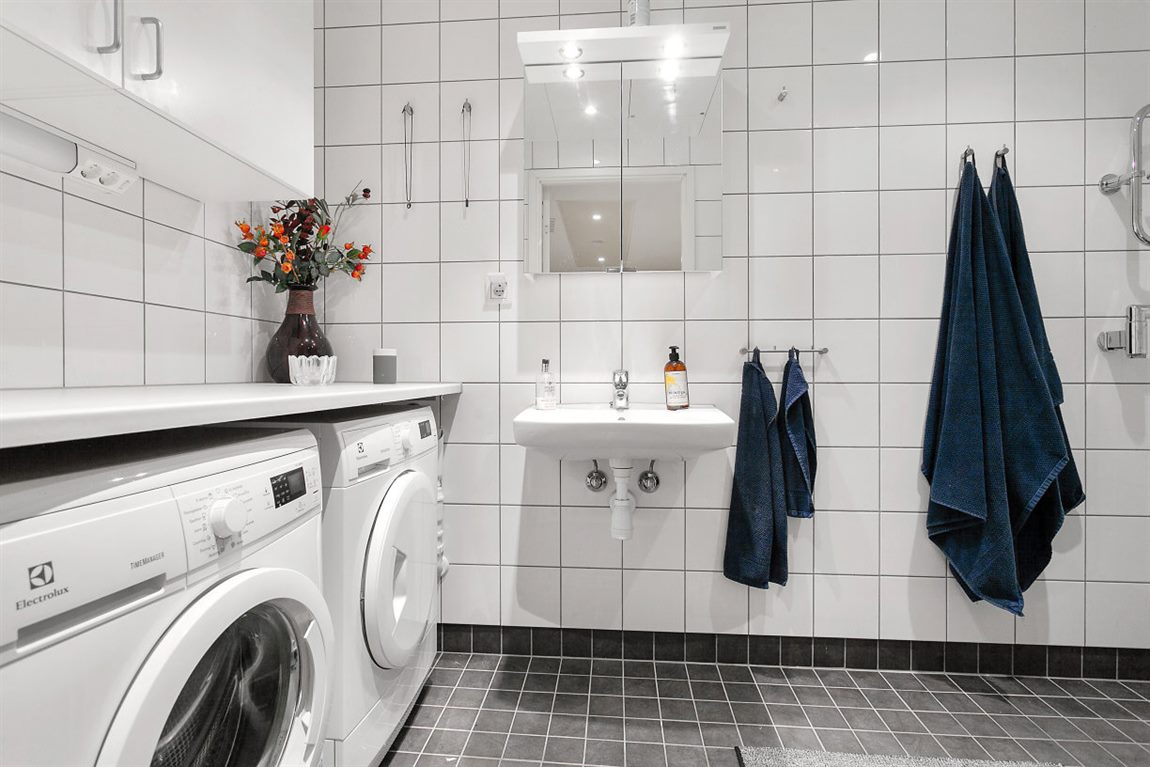 ... med praktisk tvättavdelning som underlättar vardagen