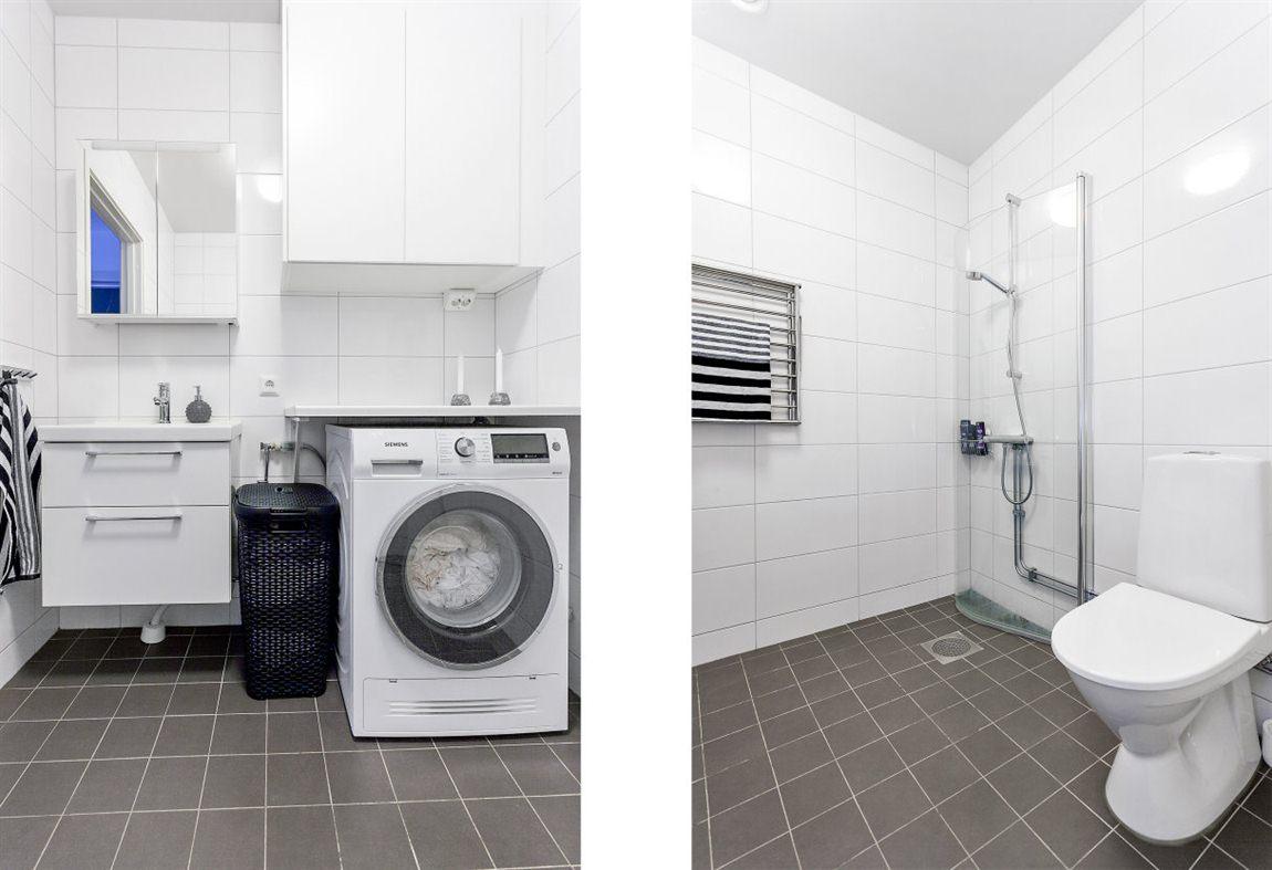 ... med goda tvättmöjligheter och förvaring