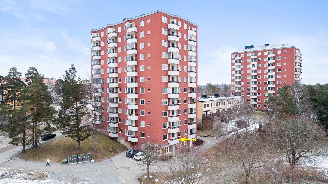 Lägenhetens balkong