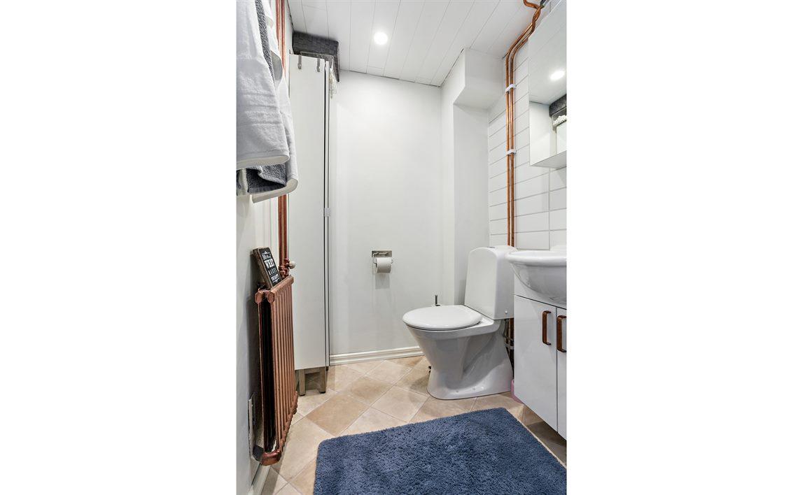 Separat WC på nedre plan