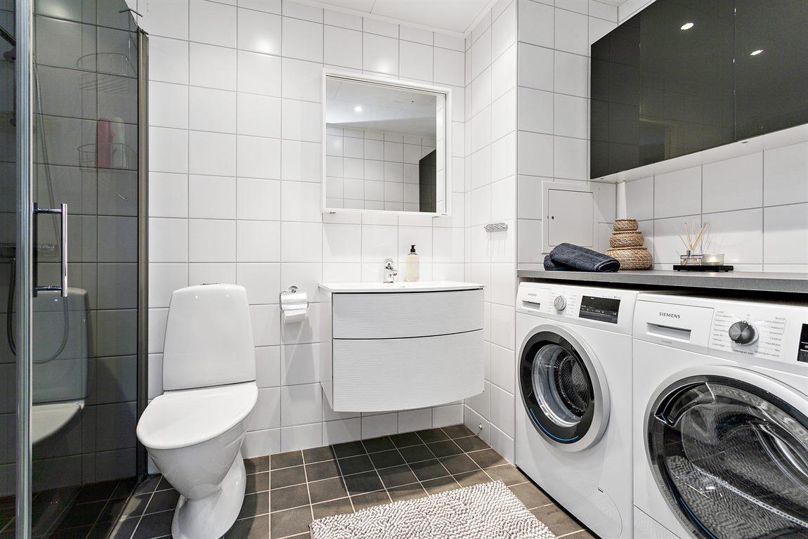 ... med en praktisk tvättavdelning