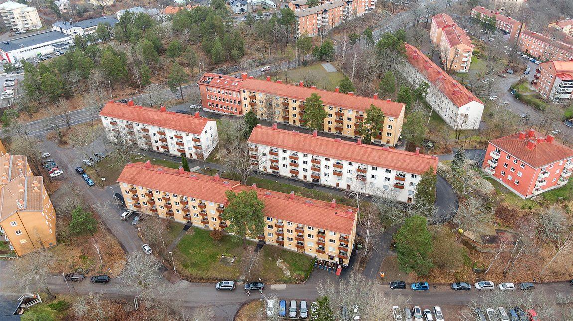 Översiktsbild på Brf Nackahus nr 2 i Ekängen
