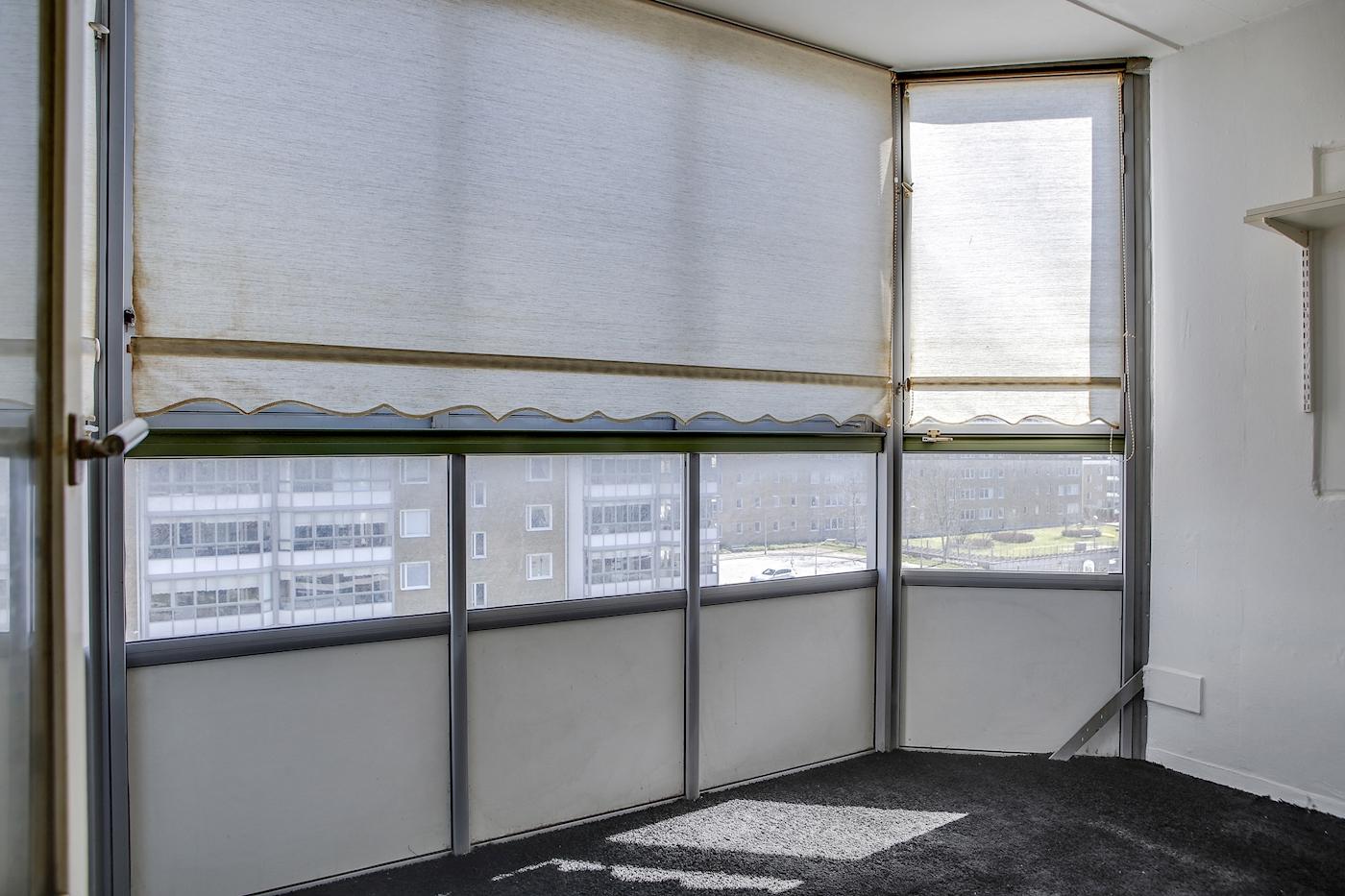 Inglasad balkong i sydostläge